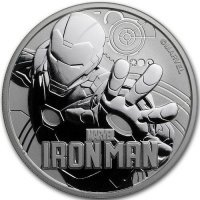 Srebrna moneta IRON MAN, Marvel 1 oz   2018 r