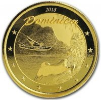 Złota moneta Dominika / Nature Isle Dominica  (Eastern Caribbean 3 ) - 1 oz 2018 r.