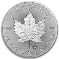 Srebrna moneta Liść Klonu (Maple Leaf) INCUSE 1 oz  2019  r