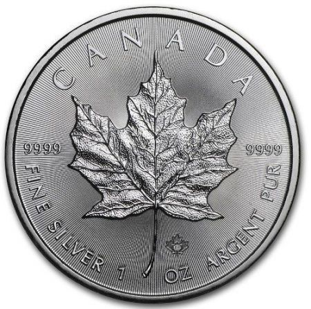 Srebrna moneta  Liść Klonu   (Maple Leaf)      1 oz   2019  r