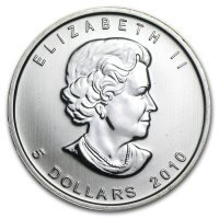 Srebrna moneta Maple Leaf  10  oz   2017  r