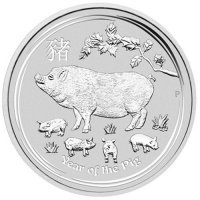 Srebrna moneta Rok Psa  / Lunar II Dog  2  Oz.  2018