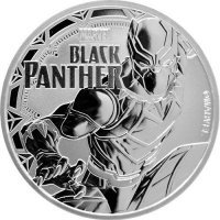 Srebrna moneta BLACK PANTHER, Marvel 1 oz   2018 r